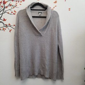 J CREW Gray Soft Pullover Sweater Wool Blend